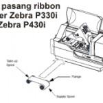 Cara Pasang Ribbon Zebra P330i dan Zebra P430i
