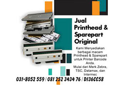 Spare Part Printer Barcode