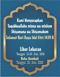 Libur Lebaran Printer kartu