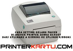 Cara Setting Gelang Pasien Di Driver Printer Zebra GC420t