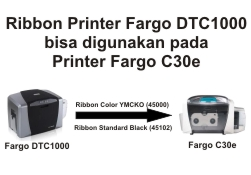 Ribbon Fargo DTC1000 to Fargo C30e